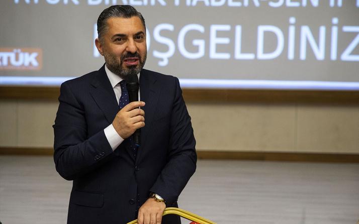 RTÜK Başkanı Ebubekir Şahin'den istifa kararı TÜRKSAT'ı bıraktı
