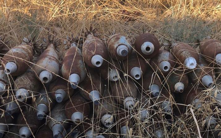 Tel Abyad'da teröristlere ait 285 ağır silah mühimmatı ele geçirildi
