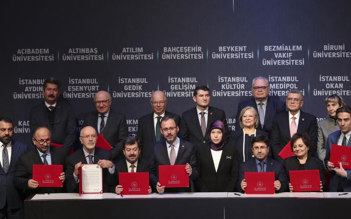 Gençlik ve Spor Bakanlığı ile 28 vakıf üniversitesi arasında önemli iş birliği
