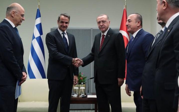 NATO Zirvesi'nde Miçotakis Erdoğan'a sunum yapacak