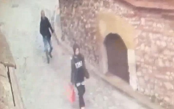 İstanbul Balat'ta taciz anı güvenlik kamerasında