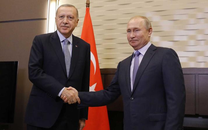 Cumhurbaşkanı Erdoğan ile Putin arasında kritik görüşme