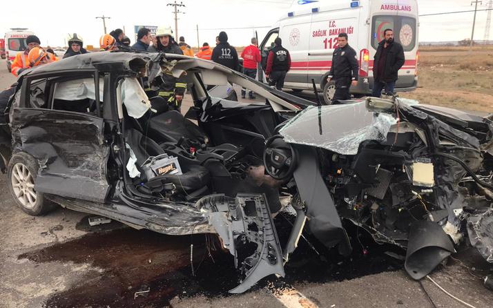 Aksaray'da korkunç trafik kazası! Çok sayıda yaralı var