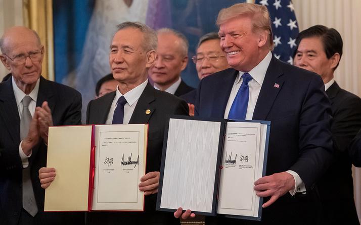 ABD ile Çin birinci faz ticaret anlaşmasını imzaladı