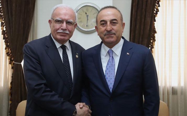 Dışişleri Bakanı Çavuşoğlu Filistinli mevkidaşıyla telefonda görüştü