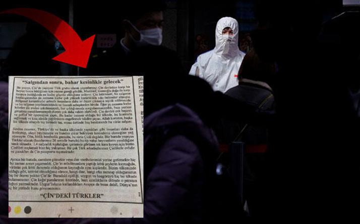 Çin'deki Türklerden gazete ilanıyla koronavirüs çağrısı