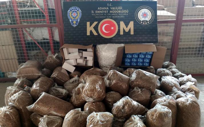 Adana'da kaçakçılara operasyon 940 bin liralık içki ve sigara ele geçirildi