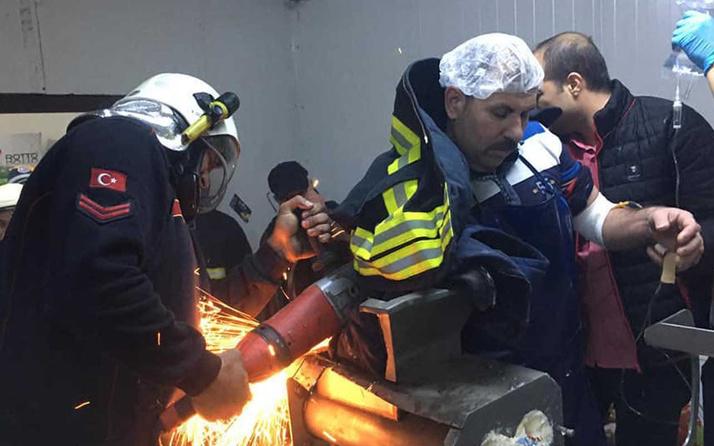 Aydın'da mandıra işçisi kolunu tereyağı makinesine kaptırdı durumu ağır