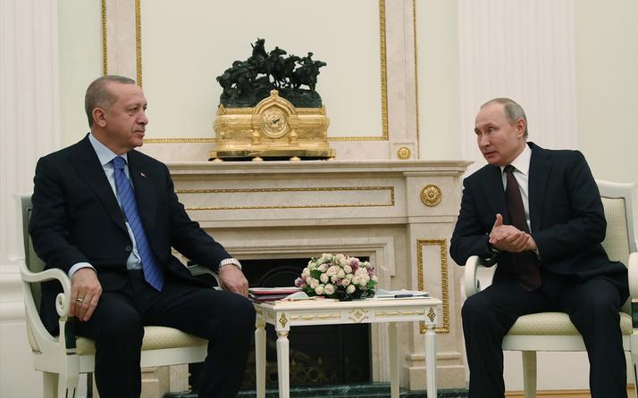 Cumhurbaşkanı Erdoğan ile Rusya lideri Putin görüştü! Gündem Suriye ve Libya