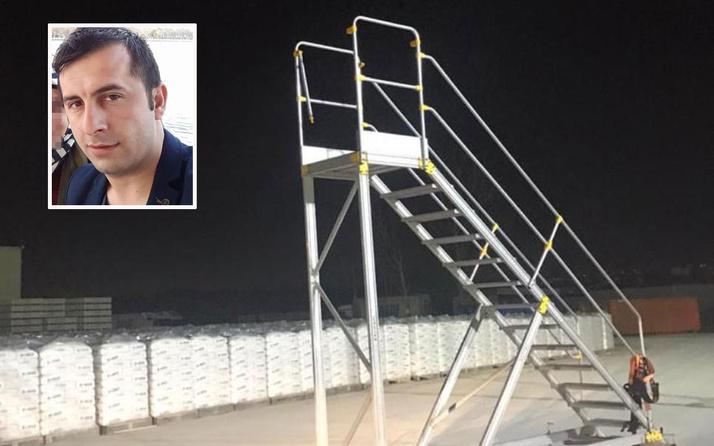 Kocaeli'de fabrika güvenlik görevlisi kendini vince astı