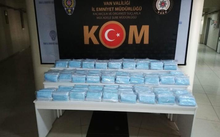 Van'da korona fırsatçılarına tokat! 6 bin 900 adet kaçak maske ele geçirildi