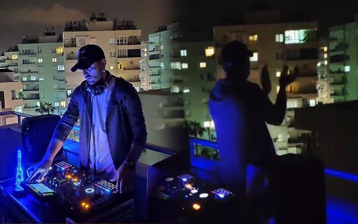 Antalya'da sağlık çalışanlarını alkışa DJ'den müzikli eşlik