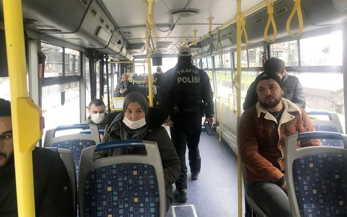 İstanbul'da trafik polisleri halk otobüslerini denetledi