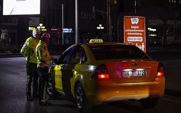 Taksilere plaka sınırlamasında ilk ceza kesildi