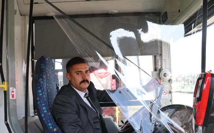 Kayseri'de otobüslerde koronavirüse karşı brandalı dönem başladı
