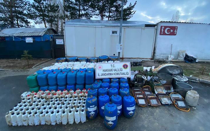 Hakkari'de uyuşturucu operasyonu malzemeleri toprağa gömmüşler