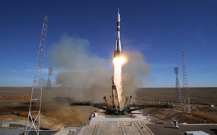 Kazakistan'da Baykonur Uzay Üssünden Soyuz MS-16 uzaya fırlatıldı!