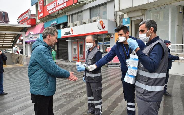 Maskeler Büyükşehir'den tedbir vatandaştan