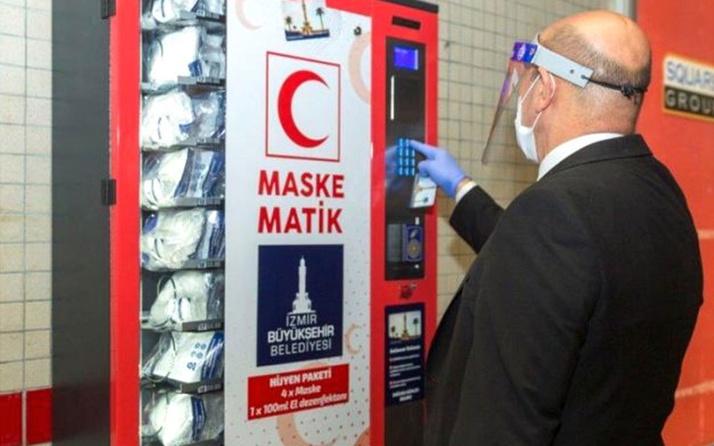 İzmir Büyükşehir Belediyesi maskematikleri devreye koydu! Metro kartı okutarak alınabiliyor