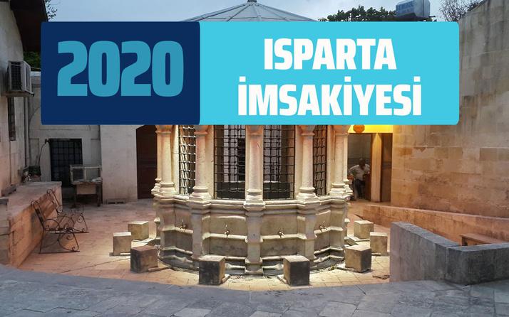 Isparta İmsakiye 2020 Diyanet Isparta sahur imsak vakti iftar saati