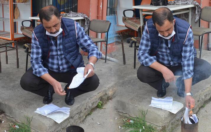 Aydın'da vatandaşın 21 bin 750 lira borcunu ödedi veresiye defterini yaktırdı