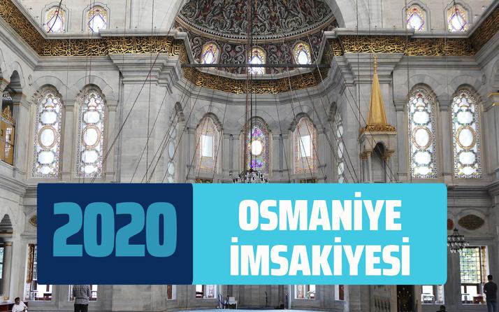 Osmaniye imsakiye sahur vakti 2020 Osmaniye imsak ve iftar saati