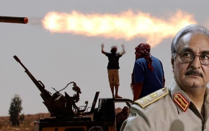 Libya'da darbeci Hafter'e büyük darbe! Üsse bomba yağdı askeri araçlar vuruldu