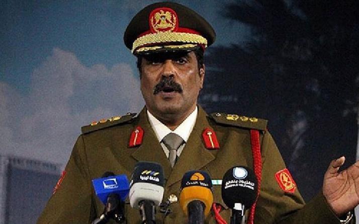 Libya'da ağır darbeler alan Hafter'in Sözcüsünden Türkiye'ye küstah tehdit!