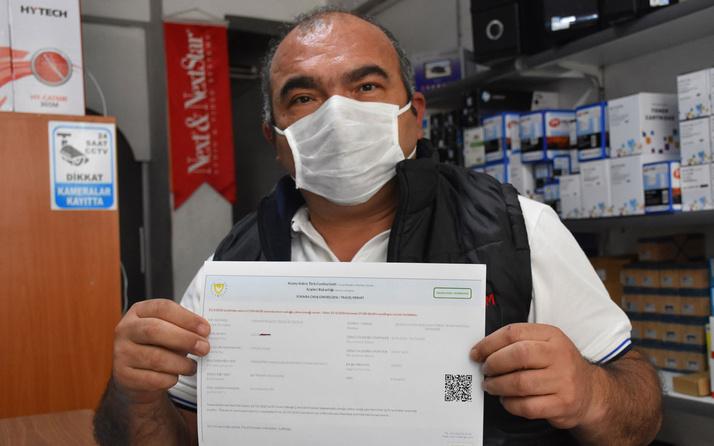 Sivas'ta yanlışlıkla KKTC İçişleri Bakanlığı'na yaptığı izin başvurusu onaylandı