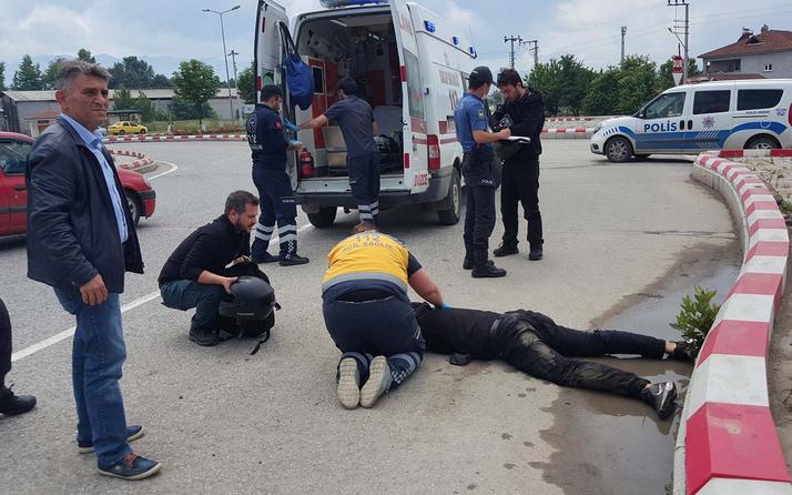 Düzce'de yola atlayan köpek kazaya sebep oldu