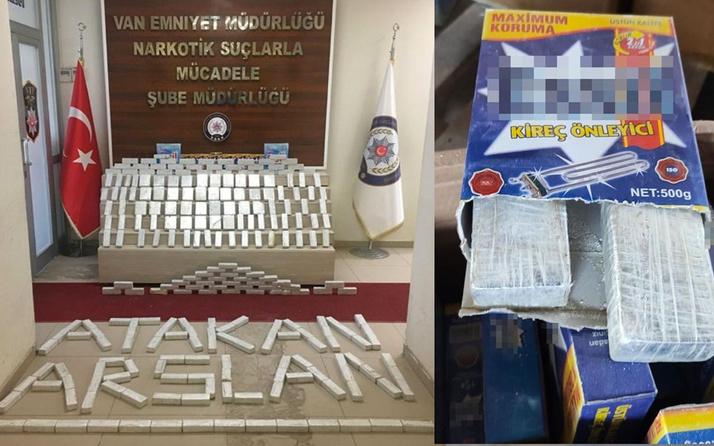 Van'da kargoda 82 kilo 155 gram eroin ele geçirildi