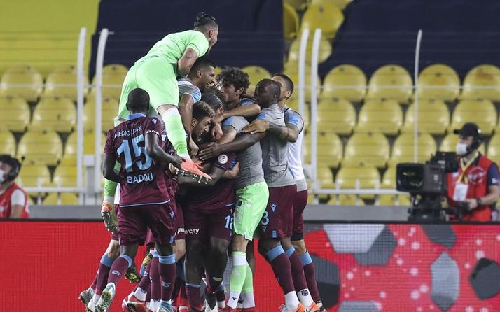 Trabzonspor, Fenerbahçe'yi deplasmanda 23 yıl sonra yendi