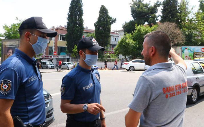 Vatandaşlar ile polis arasında ilginç maske diyalogları bir anda nefesim kesildi