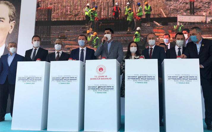 Çevre ve Şehircilik Bakanı Kurum Zeytinburnu'nda temel atma törenine katıldı