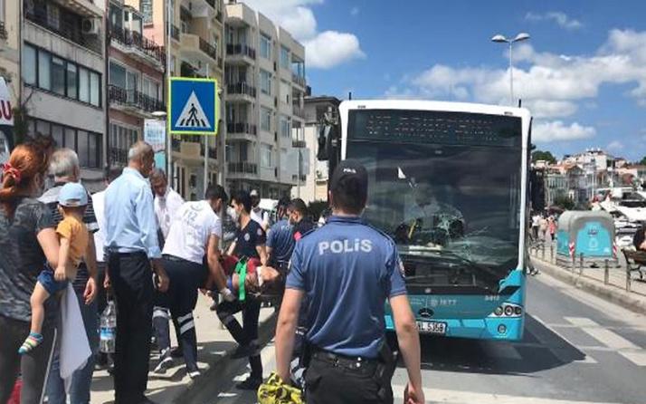 Beşiktaş'ta halk otobüsü yaya geçidinde kadına çarptı