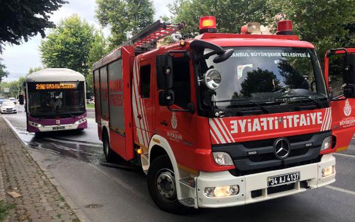 İstanbul'da panik! Beşiktaş'ta seyir halindeki otobüs alev aldı