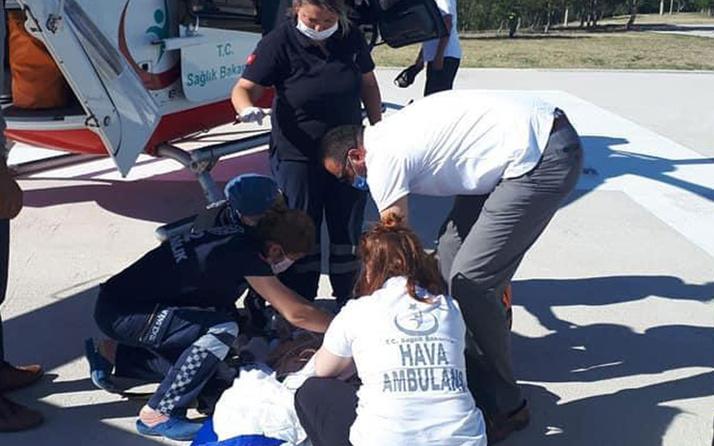 Çankırı'da 21 aylık bebeğin üzeribe televizyon düştü!