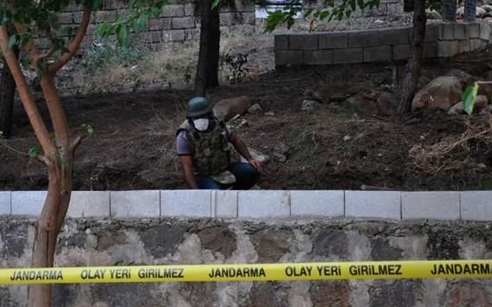 Gaziantep'te aile mezarlığında gömülü el bombası bulundu