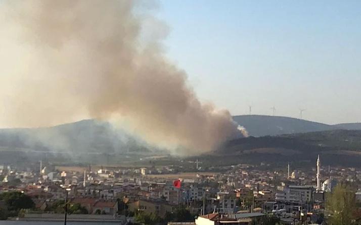 Soma'da orman yangını!
