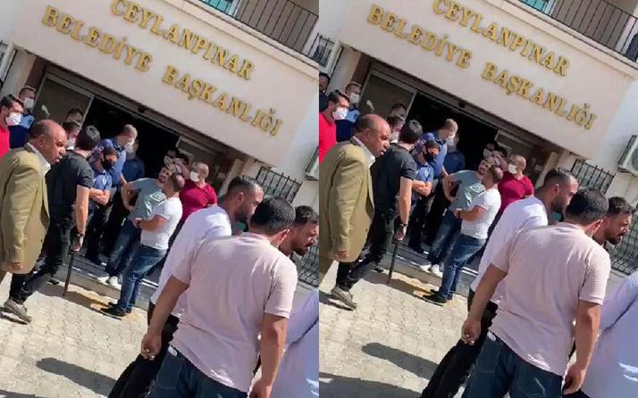 Ceylanpınar Belediyesi'nde gerginlik! Gözaltına alınanlar var