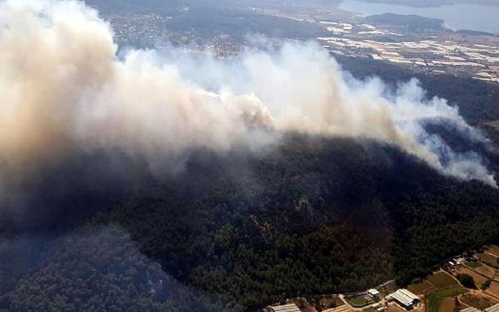 Mersin'de orman yangını! Havadan ve karadan müdahale ediliyor
