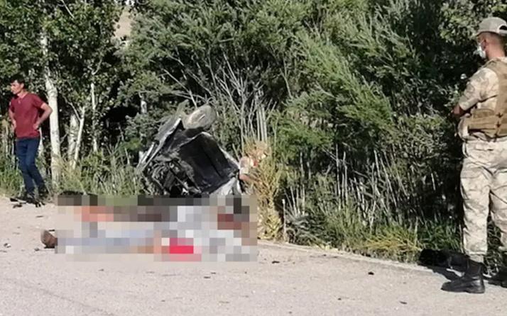 Van'da metrelerce takla atan araçta 2 kişi hayatını kaybetti