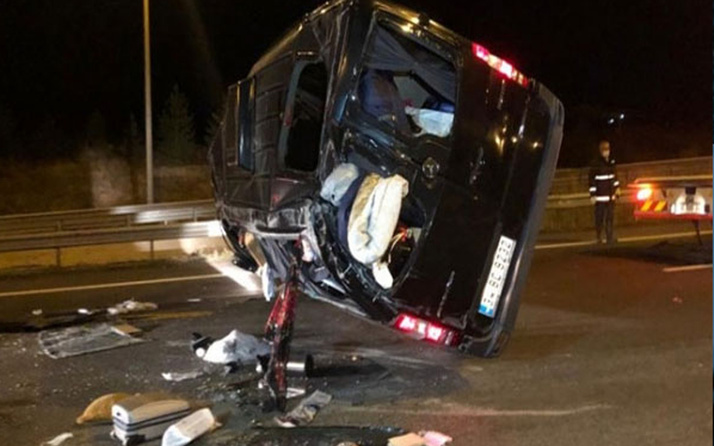 Ankara'da yolcu otobüsü Aselsan personelini taşıyan minibüse çarptı: 1 ölü, 2'si ağır 8 yaralı