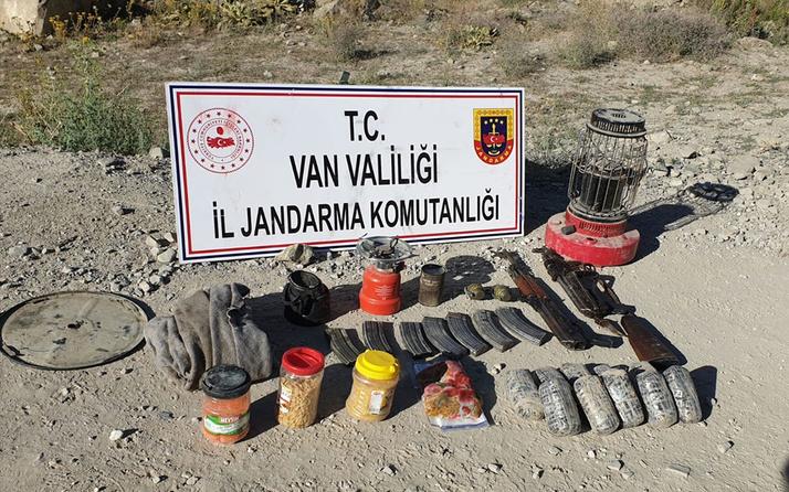 Van'da terör operasyonunda silah ve mühimmat bulundu