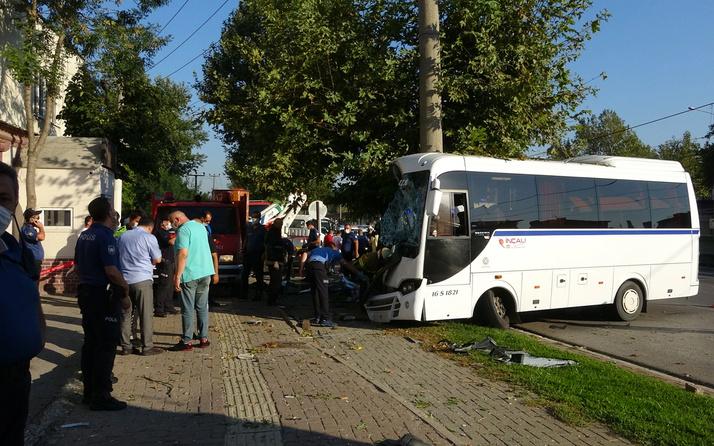 Bursa'da işçi servisi elektrik direğine girdi! Ölüler ve yaralılar var