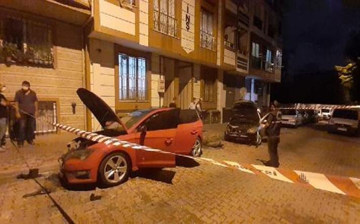 """Küçükçekmece'de """"iki otomobil ateşe verildi"""" iddiası polisi alarma geçirdi"""