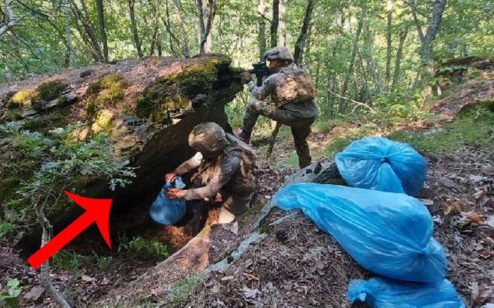 Amanoslar'daki mağara ve sığınakta teröristlerin yaşam malzemeleri bulundu