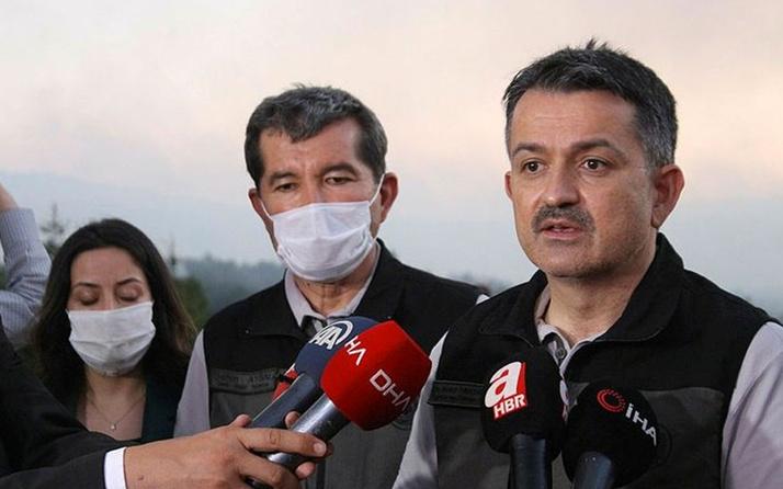 Denizli'de dünden beri söndürelemeyen orman yangını! Bakan Pakdemirli'den açıklama