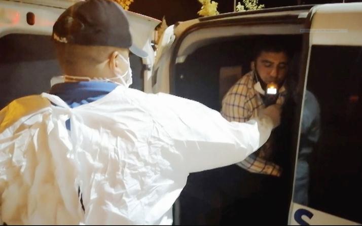 Aksaray'da polisin 'dur' ihtarına uymayarak kaçan alkollü sürücünün korona olduğu ortaya çıktı
