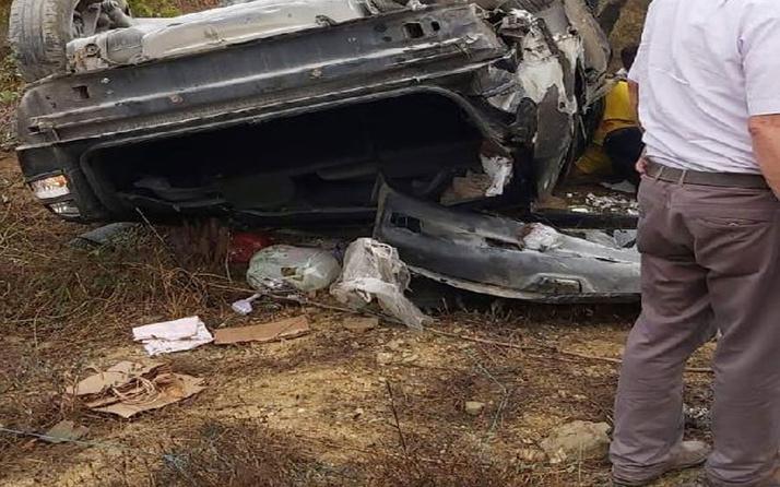 Tatil dönüşü feci kaza! Astsubayın kullandığı otomobil takla attı